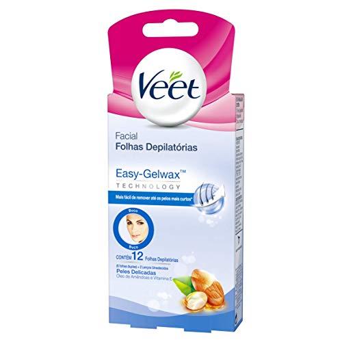 Cera Fria Facial Veet Peles Delicadas - 12 Folhas