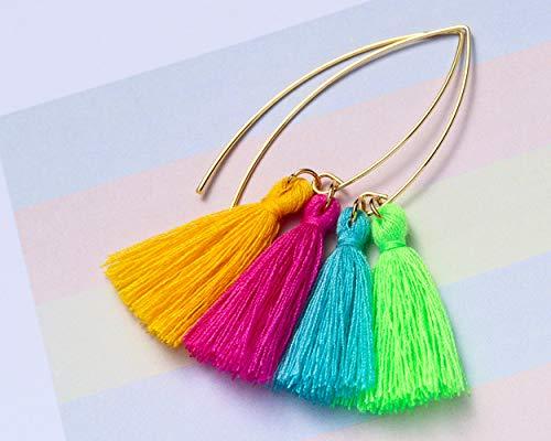 Hollosport 14k Genuine Gold Plated Earring Hooks for Jewelry Making,12Pcs Hypoallergenic Ear Wires for DIY Dangle Earrings