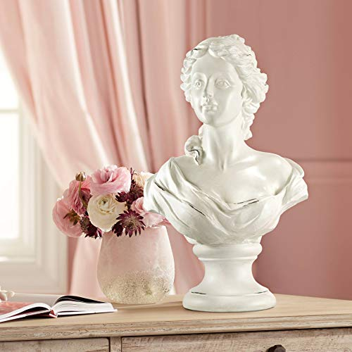 Kensington Hill Classic Roman 16' High White Female Bust Statue