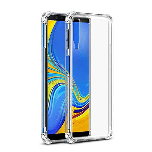 Capinha Silicone Transparente Antichoque Samsung A7 2018 SM-A750G