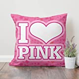 Qhexs Victoria Secret Love Pink Ultra-Soft Pillow Case 18inch18inch,Without Pillow,Square Throw Pillow Case