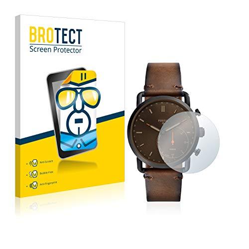 BROTECT Schutzfolie kompatibel mit Fossil Q Commuter (2 Stück) klare Bildschirmschutz-Folie