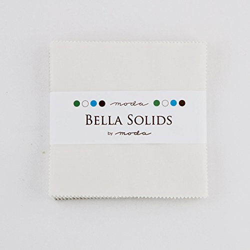 Bella Solids Feather White Moda Charm Pack By Moda Fabrics; 42-5