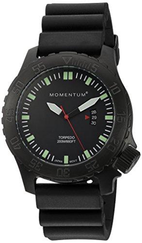 Momentum Herren Datum klassisch Quarz Uhr mit Gummi Armband 1M-DV76B1B