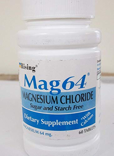 Rising Mag64 Magnesium Chloride with Calcium Tablets 60 ea (Pack of 3)
