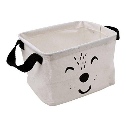 HENGSONG Cartoon Praktische Aufbewahrungsbox Korb Kosmetik Koffer Make-up Tasche Spielzeug Ablagebox Desktop Organizer für Haus Kinderzimmer Büro Aufbewahrung (Weiß)