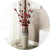 Vasi Vaso da Terra Alto da Interno Design, Vaso Grande da Terra in Ceramica Girasole, Alti per La Decorazione Pavimento del Soggiorno, Ufficio, All'aperto, Giardino (Size : 80cm)