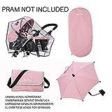 Silver Cross Paquete de Accesorios definitivo de Carrito para muñecos Tejido Vintage Pink