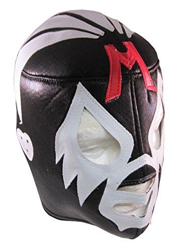MIL MASCARAS Lucha Libre Wrestling Mask (pro-fit) Costume Wear - Black/Grey