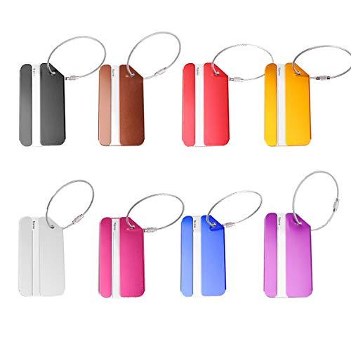 Aluminium Gepäckanhänger 8 Farben Flugzeug Gepäckanhänger mit Namensschild Adressschild (Mischfarbe)