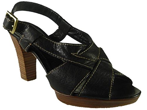 COACH Halina Grainy Calf Women Shoes Size US 8.5 Black Made in Italy