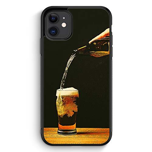 Bierglas Bier - Silikon Hülle für iPhone 11 - Motiv Design Jungs Herren Männer - Cover Handyhülle Schutzhülle Hülle Schale