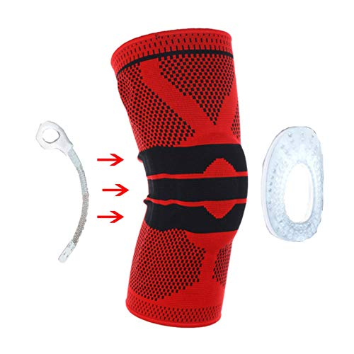 N-B 1 Pcs Knee Pad Silicone Knee Support Compression Sleeve Knee Protector Used For Meniscal Tears Arthritis Joint Pain Relief Injury Recovery ACL MCL Running Exercise Basketball Sports