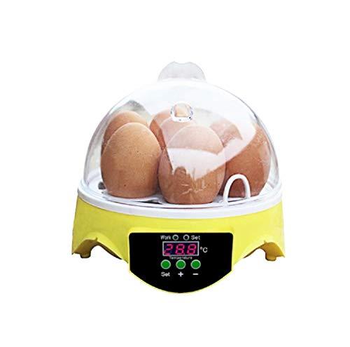 Gloomia Inkubator Automatische, 7 Eier Brutkasten Temperatur Digital Hatchery für Geflügel Huhn Ente Wachtel die Inkubation der Eier Zucht