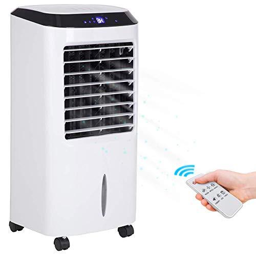 Bakaji Kühler Luftbefeuchter Luftkühler Luftkühler Luftbefeuchter Air Cooler maximale Leistung Wasserkühlung mit Eisbehälter, Timer und Fernbedienung (10 Liter)