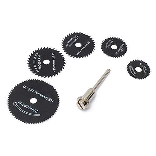 ZYL-YL Abrasivo, 6pcs Metal HSS Circular Hoja de Sierra Conjunto de Discos de Corte Ajuste Para Herramienta Rotatoria