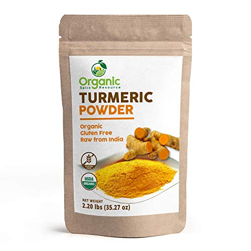 Organic Turmeric Powder - 2.20 lbs (35.27 oz) Resealable Bag, Gluten Free and Non-GMO, Curcumin Powder - 100% Raw from India, by OSR