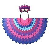 iiniim 2pcs Costume Carnaval Disfraz de Pájaro Cumpleaños Actuación Bonito Loro para Niño Niña Máscara de Pájaro Alas Colores Traje de Halloween Carnaval Fiesta Morado Talla Unica