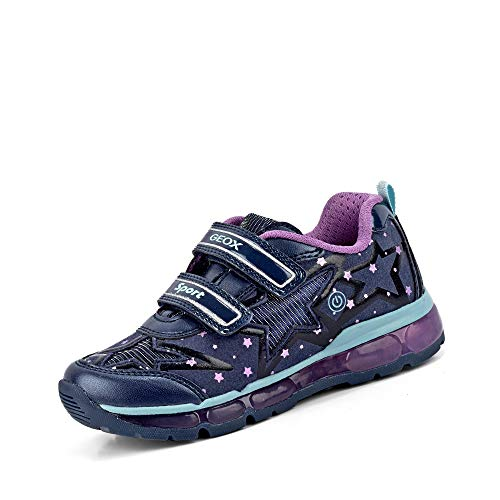 Geox J Android Girl B, Zapatillas para Niñas, Azul (Navy/Purple C4269), 33 EU