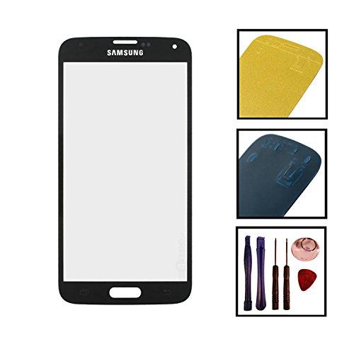 Samsung i9600 Galaxy S5 Front Glas Schwarz Reperatur Set (Artikelstandort Deutschland)