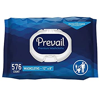 Prevail Soft Pack Adult Washcloths 12 x 8  576 Count