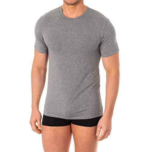 Abanderado Camiseta Manga Corta termorreguladora X-Temp térmica, Gris (Gris Vigoré 1AM), Large (Tamaño del Fabricante:L/52) para Hombre