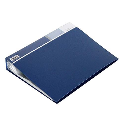 JIUJ Dokumentenheft A4 Dokumentationsbuch 80 Seiten Mappen Einlagen Testpapier Clips Portfolio Business Studenten Display Buch A4 blau