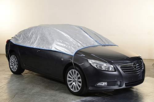 Kley & Partner Autoabdeckung Halbgarage Plane atmungsaktiv extrem leicht kompatibel mit Mercedes Klasse SLK (R172) ab 2011 in Silber Exclusiv aus Tyvek mit Lagerbeutel