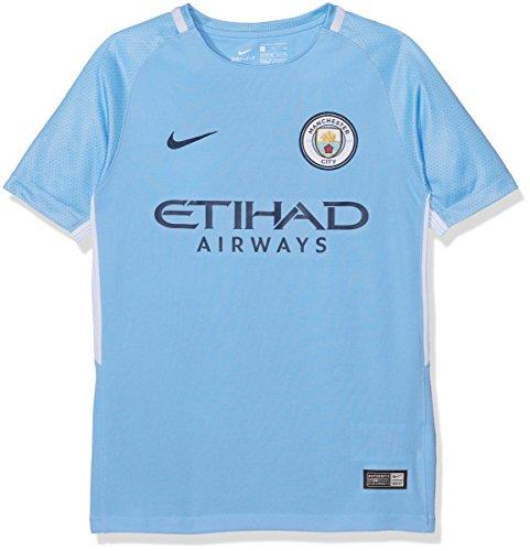 NIKE MCFC Y NK BRT STAD JSY SS HM Camiseta 1ª equipación Manchester City FC 17-18, Unisex niños, Azul (Field Blue/Midnight Navy), M