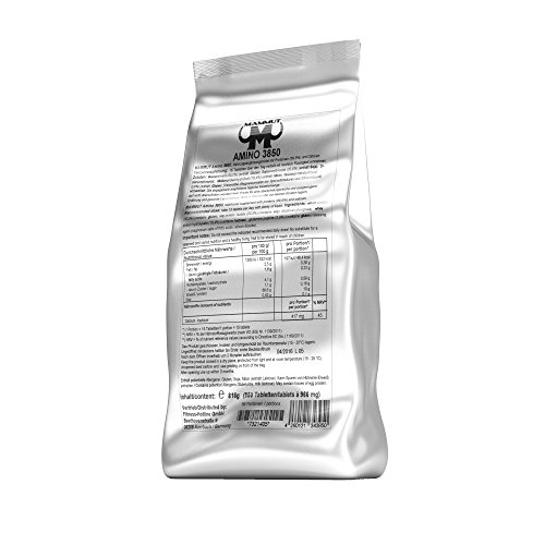Mammut Amino 3850 Tabs, aus hochwertigen Eiweißquellen, 1er Pack (1 x 850 Tabletten Beutel)