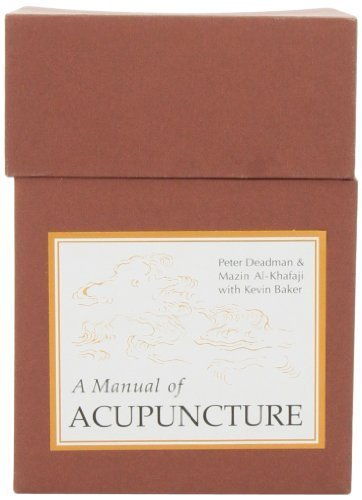 Manual of Acupuncture Point Flashcards by Deadman, Peter, Al-Khafaji, Mazin, Baker, Kevin (May 19, 2008) Misc. Supplies