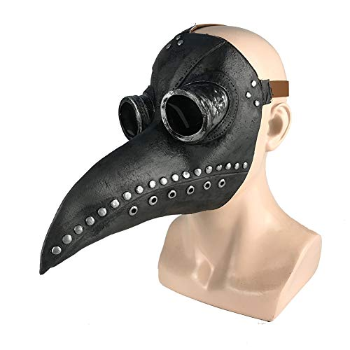 Hankyky Schnabelmaske Pest-Maske Doktor Cosplay, Halloween Maske, Retro Felsen Party Masken Steampunk Halloween Kostüm Dekoration für Erwachsene Halloween
