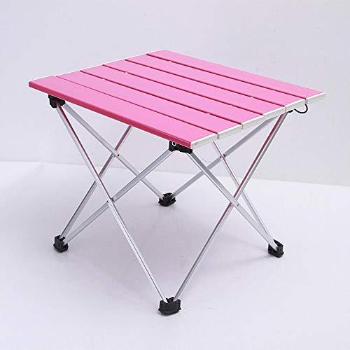 Mzl Outdoor aluminium handheld multifunctionele opklapbare tafel camping Draagbare tafel Super licht mini picknick tafel roze, blauw, zwart, primaire kleur (56.5 * 46 * 41) B