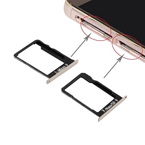 jingtingmy Fijar Las Piezas del teléfono renovar IPartsBuy for Huawei Mate 7 Bandeja de Tarjeta SIM y la Tarjeta Micro SD Bandeja de Accesorios (Color : Gold)