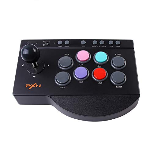 PXN アーケードコントローラー TURBO機能 MACRO機能付き PS4/PS3/PC/XBOX ONE/Switchに適用 0082