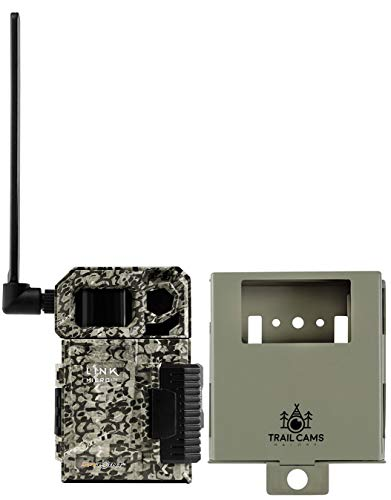 SPYPOINT Link-Micro-LTE Cellular Trail Camera with Steel Security Case (AT&T (USA Nationwide))