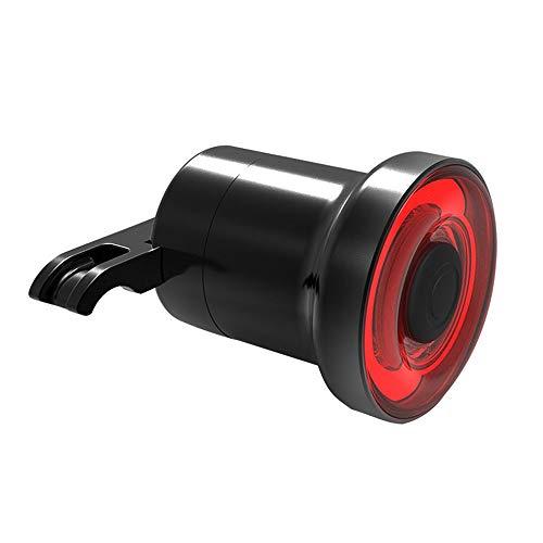 Dabeigouztoud linterna frontal, Luz de la cola de la bicicleta: Automático ON/OFF FLASH ROJO RED LED LED LUZ DE ADVERTENCIA SENSOR USB Bicicleta Tamaño negro: 5.5 * 4.5