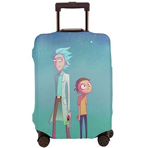 Funda de Equipaje de Viaje Anime Rick Morty Funda de Maleta Protector Funda de Equipaje Lavable Cubiertas de Equipaje TAG-006
