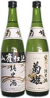 菊姫の男酒と女酒720ml飲み比べセット≪菊姫 山廃純米&純米菊姫 金劔≫