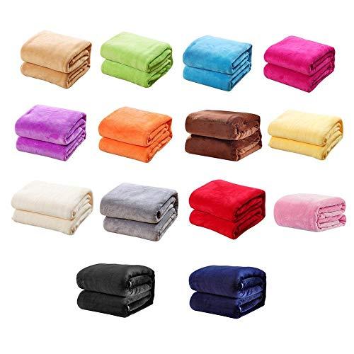 Hjkl 70x100 cm Super Weich Halten Warm Flanelldecke Große Größe Massivfarbe Home Sofa Bettwäsche Büro Autodecke Home Textilien (Color : Purple)