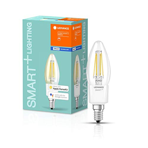 LEDVANCE Ampoule LED | E14 | Blanc chaud | 2700 K | 4W équivalent à 40W | SMART+ Filament Classic Dimmable