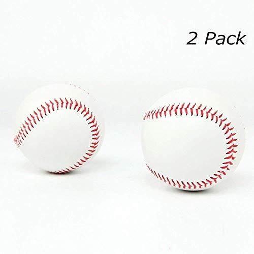 SOWOFA - Balón de béisbol 9 Pelotas Suaves de Entrenamiento con Relleno Suave para aplicar aleación de béisbol de 22,86 cm de Circunferencia de béisbol Cosido a Mano (Paquete de 2)