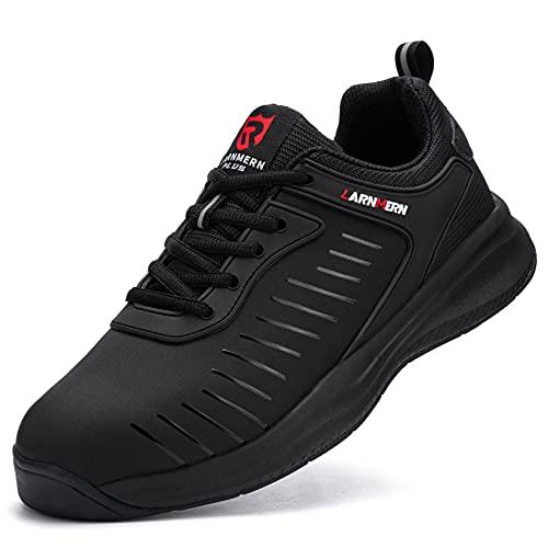 LARNMERN PLUS Sneaker Uomo Donna Impermeabile Antiscivolo Sportive Scarpe Nero 41