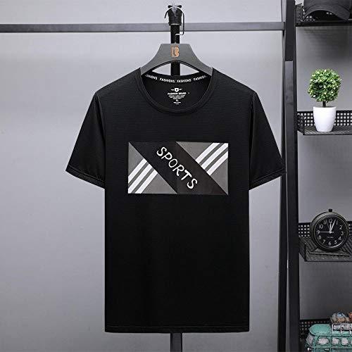 B/N Camisetas De Manga Corta para Hombres,Camisetas Deportivas En 3D, Ropa Deportiva para Correr Al Aire Libre, Camisetas De Secado Rápido, Camisas Livianas, Patrón Cómodo 3_L