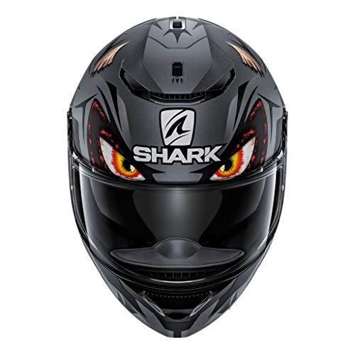 Shark Unisex-Adult Full Face Helmet (Dark Grey/Black, S - 55-56 cm - 21.7-22'')