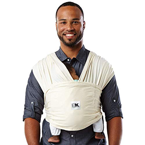 Baby K'tan Organic Baby Wrap Carrier, Infant and Child Sling - Simple Wrap Holder for Babywearing - No Rings or Buckles - Carry Newborn up to 35 lbs, Natural, Women 2-4 (X-Small), Men jacket up to 36