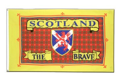 Schottland Scotland The Brave Flagge, schottische Fahne 90 x 150 cm, MaxFlags®