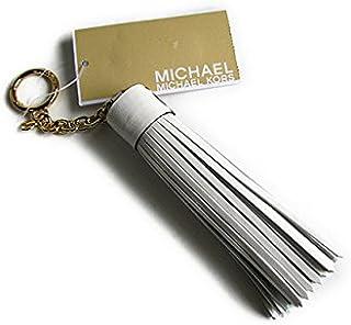 マイケルコース キーホルダー チャーム タッセル キーホブ MICHAEL Michael Kors LEATHER CHARMS Tassle Key Fob optic white 32T6GLXK2L [並行輸入品]