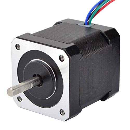 CSQIANG 17 Stepper Motor 48mm Nema17 Motor 42Bygh 2A 4 Wire (17Hs19-2004S1) 1m Cable for 3D Printer Cnc Xyz Motor
