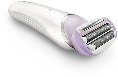 Philips SatinShave Prestige Wet and Dry Rechargeable Lady Shaver, Cordless Electric Razor with Bikini Trimmer Head, Comb and Skin Stretcher Cap, BRL170/00